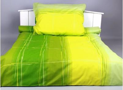 BAVLNĚNÉ POVLEČENÍ 140/200cm - Cákance zelená