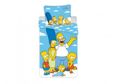 """DĚTSKÉ POVLEČENÍ- 140/200cm 70/90cm  Simpsons family """"GLOUDS"""""""