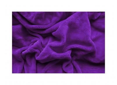 PROSTĚRADLO MIKROPLYŠ 140/200cm - Tmavě fialová