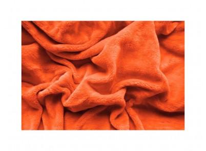 PROSTĚRADLO MIKROFLANEL - 180/200cm oranžová