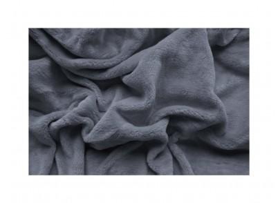 PROSTĚRADLO MIKROFLANEL 90/200cm - Tmavě šedá