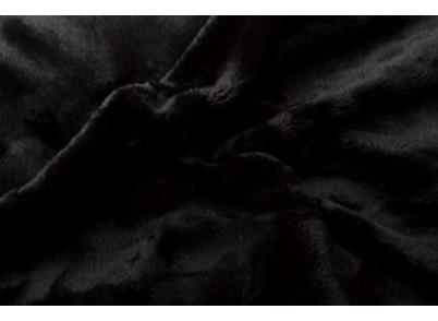 PROSTĚRADLO MIKROFLANEL 90/200cm - Černá